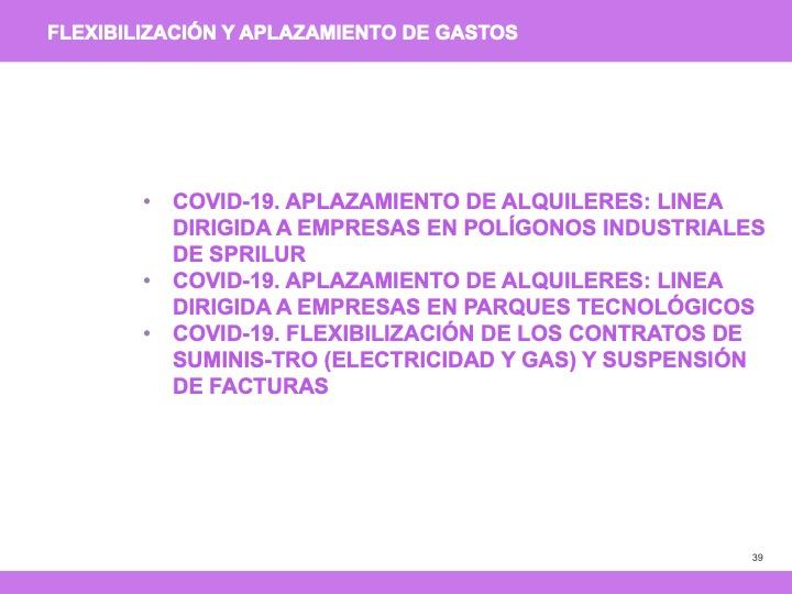 Medidas especiales covid 19 - diapositiva 39